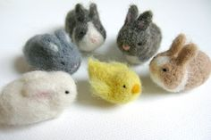 Easter Chicks and Bunnies by season2season on Etsy, (felteds fit three in egg)