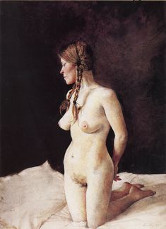 Andrew Wyeth - On Her Knees (1976)