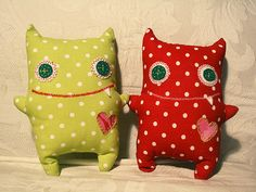 Cute monster stuffed animals - handmade