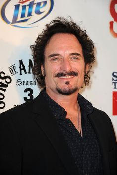 My third 'boyfriend' according to the DH.  Canadiana blue eyed actor Kim Coates caught my eye in the third season of 'Miami Vice' in the episode 'Viking Bikers from Hell'.  I've been hooked ever since.