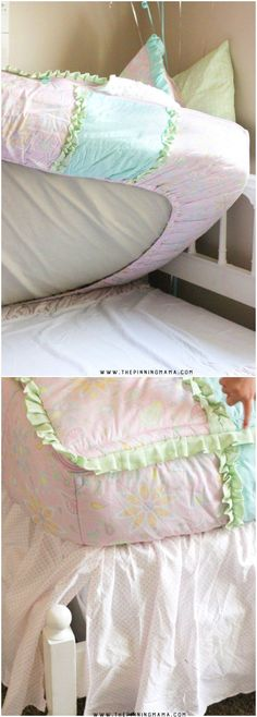 This kids bedding is one piece expertly made to replace the comforter, flat sheet, fitted sheet, and cuddle blanket. I love it because the bedding never shifts around no matter how crazy your kids sleep! Kids Bedding Sets, Bedding Sets Online, Luxury Bedding Sets, Bed For Girls Room, Big Girl Bedrooms, Girls Bedroom, Bedroom Ideas, Bedroom Decor, Girl Rooms