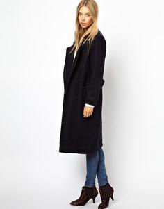 Ganni Military Long Classic Coat via us.asos.com $318.36