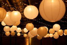 Globos de papel con luces Tea Lights, Table Lamp, Candles, Party, Home Decor, Decorative Lights, Globes, Paper Envelopes, Weddings