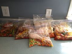Gluten Free Freezer Meals .... I so LOVE this idea and I can't wait to try it out. I love 98% of the meals need to change them a little. Great idea !!!!