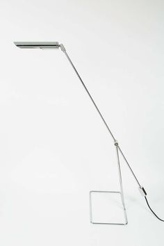 Abo Randers; Chromed Steel Floor Lamp for Abo Randers AS, 1960s.