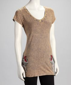 Take a look at this Brown Love & Faith Tee by Katydid Collection on #zulily today!