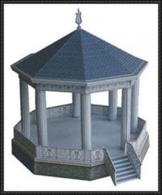 A Gazebo Paper Model Free Download