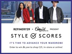 @Refinery21 GIVEAWAY-Win a $1500 shopping spree  @Century21stores & c21stores.com!  http://r29.co/13VYtBg