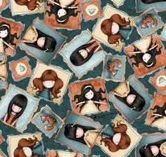 Online Shopping for Home Decor, Apparel, Quilting & Designer Fabric Santoro London, Trend Fabrics, Teal Fabric, Cotton Quilting Fabric, Home Decor Fabric, Dark Teal, Fabric Online, Letters And Numbers, Fabric Design