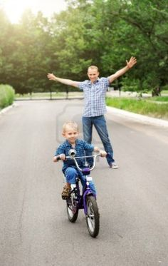 The joy of watching your child #pedal off solo for the first time! and think of the joy of the child!  Do you remember that moment in your life?