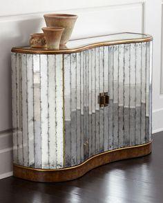 H82HG John-Richard Collection Veronika Mirrored Cabinet