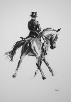 Beautiful Equine horse dressage LE print by heatherirvinefineart