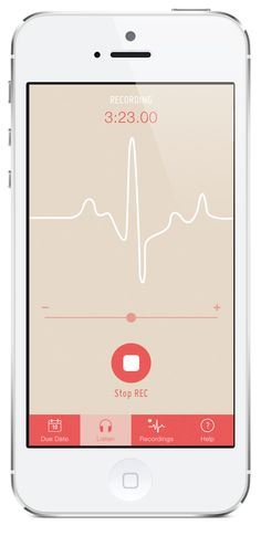 Fetal Heartbeat - iPhone App by Dianna Su, via Behance
