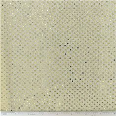 SEQ- 2mm Gold Sequins on Cream Fabric, $6/yd...for party backdrop or tablecloth...many more colors...would be perfect for New Year's Eve  {Hobby Lobby}