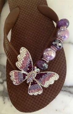 Royal Flight By Flipinista, Your BFF (Best Flip FLop) Registered Trademark… Bling Flip Flops, Flip Flop Shoes, Flip Flops Diy, Flip Flop Craft, Decorating Flip Flops, Flipflops, Shoe Crafts, Bare Foot Sandals, Flipping