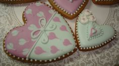 gingerbread heart mint-pink | Cookie Connection