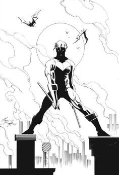 Nightwing black and white!