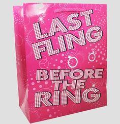 Last Fling Bachelorette Party Gift Bag | Bachelorette Party Supplies