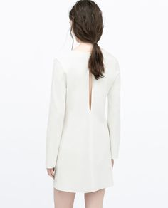 LONG-SLEEVED DRESS from Zara, $40 | couthouse wedding dress