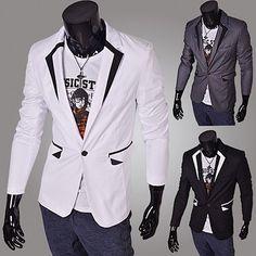 One Button Designer Slim Fit Blazer Costa, Blazers For Men, Suit Jacket, Buttons, Slim, Fitness, Jackets, Collection, Google