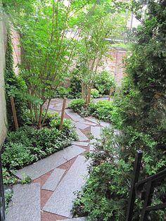 One of the more unique pathway designs we've come across.  Michael Van Valkenburgh Associates, Inc.
