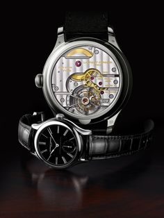 Now here is something classy to gawk at, the Laurent Ferrier Galet Classic Double Spiral Tourbillon.    http://mywat.ch/galet