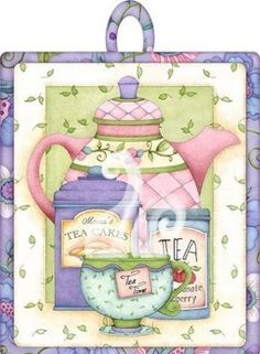 Tea is a home hot cup of LOVE! Decoupage Vintage, Decoupage Paper, Tee Kunst, Teapots And Cups, Teacups, Tea Quotes, Cuppa Tea, Pintura Country, Country Paintings