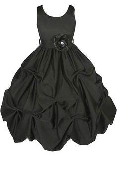 AMJ Dresses Inc Heavenly Black Flower Girl Wedding « Dress Adds Everyday