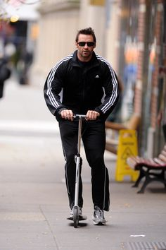 No big deal or anything, but Hugh Jackman is one of the biggest players in the Razor Scooter world.
