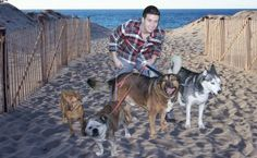 Vinny Guadagnino and his Jersey Shore dogs!