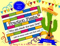 Fraction Fiesta Game Grades 7 & 8