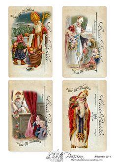 Sinterklaas (zonder maatjes dit keer), Saint Nicolas, Saint Nikolaas.•°•° Côté Passion 4 Tags ST Nicolas