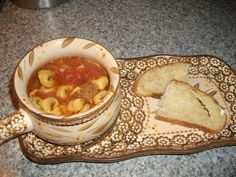 This is a great soup for a cold night.  You can find the recipe here: http://allrecipes.com/Recipe/Cheese-Tortellini-Soup-and-Sausage/Detail.aspx   #AllrecipesAllstar  #MyAllrecipes