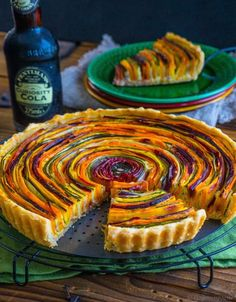 Vegetable quiche from palate poetry Vegetable Quiche, Vegetable Tart, Vegan Recipes, Cooking Recipes, Good Food, Yummy Food, Food Platters, Finger Foods, Food Inspiration