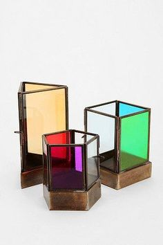 Magical Thinking Geo-Tinted Candle Holder #urbanoutfitters