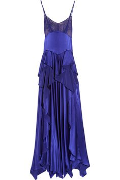 Love the color, the hang and the subtle texture. Jason Wu, Rebecca silk-charmeuse and chiffon gown. #dress #fashion