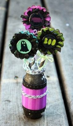 Halloween Flowers **Epiphany Crafts** - Scrapbook.com