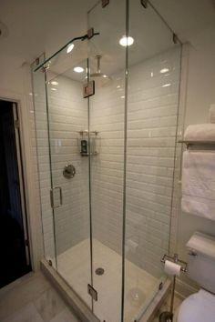 frameless tempered glass shower