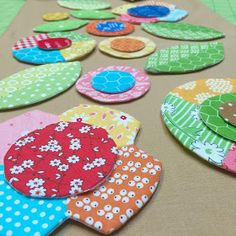 Last week I showed you  how to make a patchwork flower  using just a few of my new  Sew Simple Shapes Today I'm adding  anot...