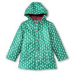 Toddler Girl's Seahorse Raincoat - Teal 5T