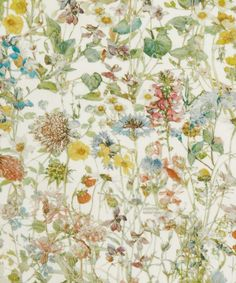 Liberty Art Fabrics Wild Flowers B Tana Lawn Cotton | Fabrics | Liberty.co.uk
