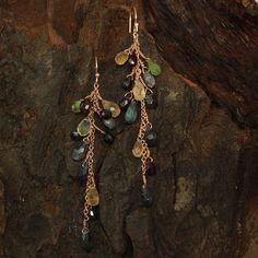 Cluster Earrings Rose Gold