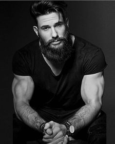 Beard Balm Leave-in Conditioner with Natural Bees Wax, Jojoba & Argan Oil - Styles, Softens, Strengthens & Thickens for Healthier Beard Growth & Mustache - 2 oz - The B. Beard Styles For Men, Hair And Beard Styles, Hair Styles, Mode Man, Beard Growth, Awesome Beards, Beard Balm, Beard Tattoo, Tattoo Man