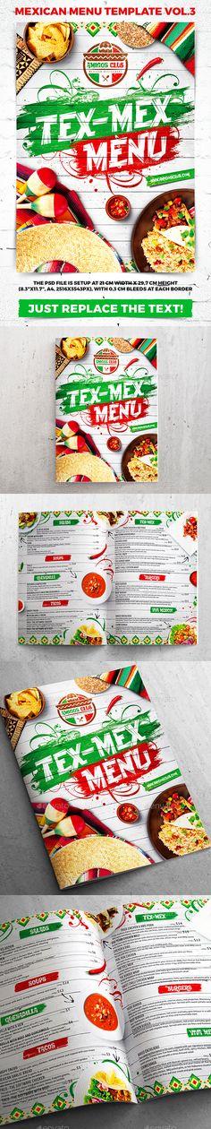 Indian A4 and US Letter Food Menu Food menu template, Menu - sample pizza menu template