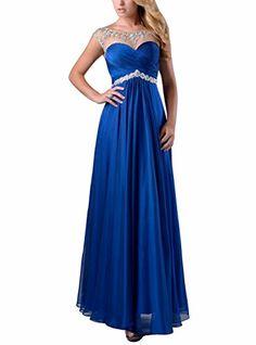 Vivebridal Women's Long A-Line Party Dress Chiffon with Beadings Evening Dress Royal 2 Vivebridal http://www.amazon.com/dp/B01489HJHU/ref=cm_sw_r_pi_dp_O-T1vb05DFFTR
