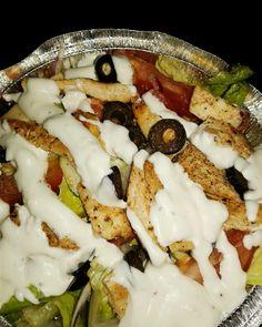 Grilled chicken salad*