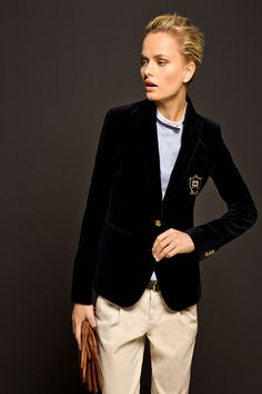 velvet blazer | The Equestrian Collection by Massimo Dutti