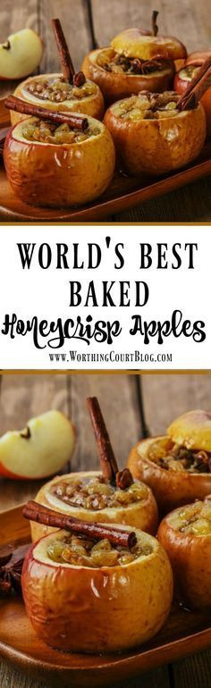 Baked Honeycrisp Apples (Best Ever!) The Worlds Best Baked Honeycrisp Apples Worthing Court Source by itsyummi Fruit Recipes, Apple Recipes, Holiday Recipes, Cooking Recipes, Recipies, Healthy Fall Recipes, Easy Thanksgiving Recipes, Fall Desserts, Delicious Desserts