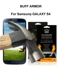 Buff Armor Samsung Galaxy S4 IV i9500 Front Screen Protector Scratch Guard Antishock AntiScratch Tough