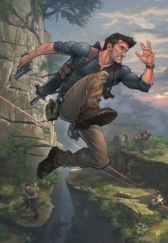 Artist: Patrick Brown - cool-uncharted-4-art - http://patrickbrown.deviantart.com/ - http://patrickbrownart.com/ - #PatrickBrown